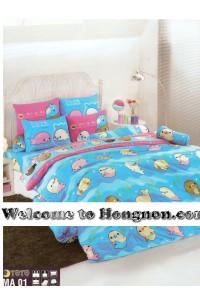 ชุดเครื่องนอน ผ้าห่มนวม ชุดผ้าปูที่นอนโตโต้  MA01