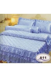ชุดเครื่องนอน ผ้าห่มนวม ชุดผ้าปูที่นอนซาติน Master ระบายชาย A11