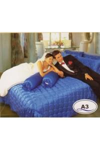 ชุดเครื่องนอน ผ้าห่มนวม ชุดผ้าปูที่นอนซาติน Master ระบายชาย A3