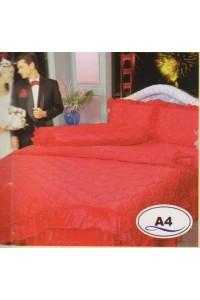 ชุดเครื่องนอน ผ้าห่มนวม ชุดผ้าปูที่นอนซาติน Master ระบายชาย A4