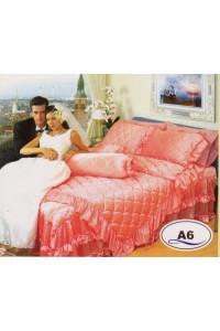 ชุดเครื่องนอน ผ้าห่มนวม ชุดผ้าปูที่นอนซาติน Master ระบายชาย A6