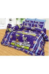 ชุดเครื่องนอน ผ้าห่มนวม ชุดผ้าปูที่นอนซาติน ลายการ์ตูนลิขสิทธิ์ C054 (Tom and Jerry)