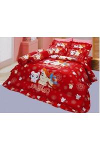 ชุดเครื่องนอน ผ้าห่มนวม ชุดผ้าปูที่นอนซาติน ลายการ์ตูนลิขสิทธิ์ C057 (Hamtaro)