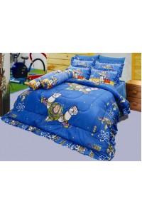 ชุดเครื่องนอน ผ้าห่มนวม ชุดผ้าปูที่นอนซาติน ลายการ์ตูนลิขสิทธิ์ C058 (Toy Story)
