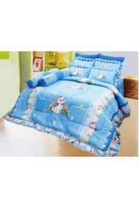 ชุดเครื่องนอน ผ้าห่มนวม ชุดผ้าปูที่นอนซาติน ลายการ์ตูนลิขสิทธิ์ C060 (Disney Marie)
