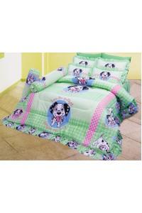 ชุดเครื่องนอน ผ้าห่มนวม ชุดผ้าปูที่นอนซาติน ลายการ์ตูนลิขสิทธิ์ C062 (Disney 102 Dalmatians)