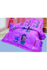 ชุดเครื่องนอน ผ้าห่มนวม ชุดผ้าปูที่นอนซาติน ลายการ์ตูนลิขสิทธิ์ C063 (Disney Lilo & Stitch)