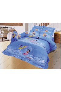 ชุดเครื่องนอน ผ้าห่มนวม ชุดผ้าปูที่นอนซาติน ลายการ์ตูนลิขสิทธิ์ C066 (Disney Lilo & Stitch)