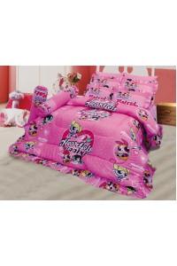 ชุดเครื่องนอน ผ้าห่มนวม ชุดผ้าปูที่นอนซาติน ลายการ์ตูนลิขสิทธิ์ C067 (Power pup girls)