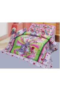 ชุดเครื่องนอน ผ้าห่มนวม ชุดผ้าปูที่นอนซาติน ลายการ์ตูนลิขสิทธิ์ C068 (Tom and Jerry)