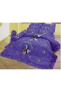 ชุดเครื่องนอน ผ้าห่มนวม ชุดผ้าปูที่นอนซาติน ลายการ์ตูนลิขสิทธิ์ C073 (Disney Nemo)