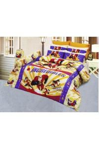 ชุดเครื่องนอน ผ้าห่มนวม ชุดผ้าปูที่นอนซาติน ลายการ์ตูนลิขสิทธิ์ C074 (Incredilbles)