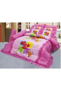 ชุดเครื่องนอน ผ้าห่มนวม ชุดผ้าปูที่นอนซาติน ลายการ์ตูนลิขสิทธิ์ C077 (Disney Nemo)