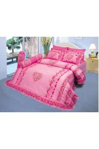ชุดเครื่องนอน ผ้าห่มนวม ชุดผ้าปูที่นอนซาติน 598