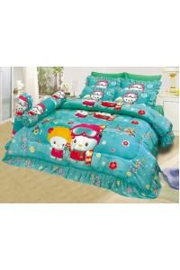 ชุดเครื่องนอน ผ้าห่มนวม ชุดผ้าปูที่นอนซาติน 654