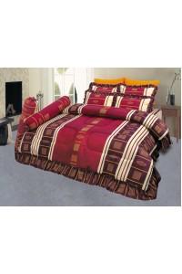 ชุดเครื่องนอน ผ้าห่มนวม ชุดผ้าปูที่นอนซาติน 658