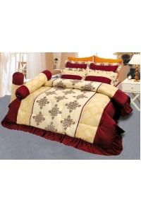 ชุดเครื่องนอน ผ้าห่มนวม ชุดผ้าปูที่นอนซาติน 660