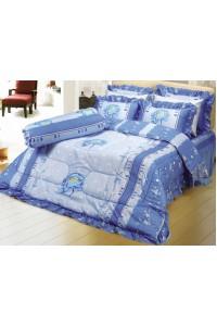 ชุดเครื่องนอน ผ้าห่มนวม ชุดผ้าปูที่นอนซาติน 663