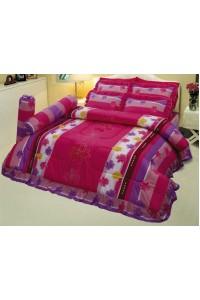 ชุดเครื่องนอน ผ้าห่มนวม ชุดผ้าปูที่นอนซาติน 667