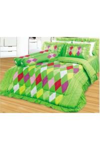 ชุดเครื่องนอน ผ้าห่มนวม ชุดผ้าปูที่นอนซาติน 668