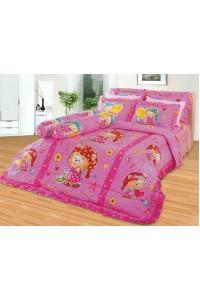 ชุดเครื่องนอน ผ้าห่มนวม ชุดผ้าปูที่นอนซาติน 673