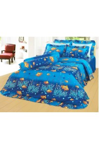 ชุดเครื่องนอน ผ้าห่มนวม ชุดผ้าปูที่นอนซาติน 674