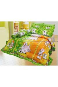 ชุดเครื่องนอน ผ้าห่มนวม ชุดผ้าปูที่นอนซาติน 676