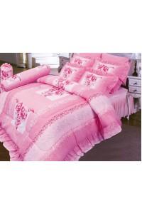 ชุดเครื่องนอน ผ้าห่มนวม ชุดผ้าปูที่นอนซาติน 677