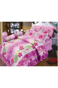 ชุดเครื่องนอน ผ้าห่มนวม ชุดผ้าปูที่นอนซาติน 679