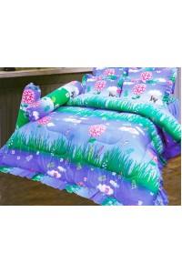 ชุดเครื่องนอน ผ้าห่มนวม ชุดผ้าปูที่นอนซาติน 684