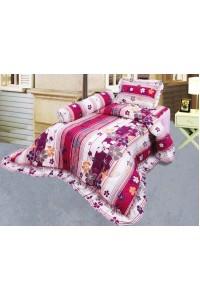 ชุดเครื่องนอน ผ้าห่มนวม ชุดผ้าปูที่นอนซาติน 686