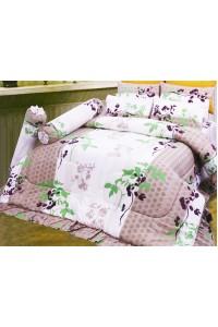 ชุดเครื่องนอน ผ้าห่มนวม ชุดผ้าปูที่นอนซาติน 689