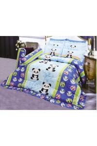 ชุดเครื่องนอน ผ้าห่มนวม ชุดผ้าปูที่นอนซาติน 696