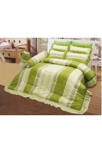 ชุดเครื่องนอน ผ้าห่มนวม ชุดผ้าปูที่นอนซาติน 697
