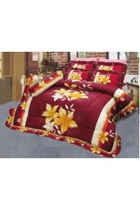 ชุดเครื่องนอน ผ้าห่มนวม ชุดผ้าปูที่นอนซาติน 698