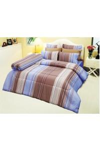 ชุดเครื่องนอน ผ้าห่มนวม ชุดผ้าปูที่นอนซาติน D21