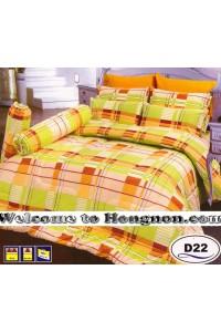 ชุดเครื่องนอน ผ้าห่มนวม ชุดผ้าปูที่นอนซาติน D22