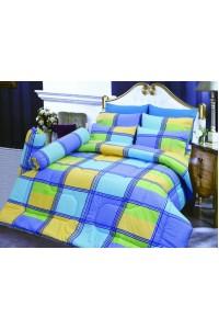 ชุดเครื่องนอน ผ้าห่มนวม ชุดผ้าปูที่นอนซาติน D23