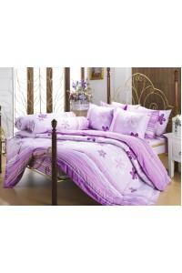 ชุดเครื่องนอน ผ้าห่มนวม ชุดผ้าปูที่นอนซาติน Premier P044