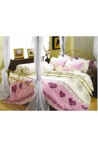 ชุดเครื่องนอน ผ้าห่มนวม ชุดผ้าปูที่นอนซาติน Premier P058