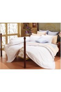 ชุดเครื่องนอน ผ้าห่มนวม ชุดผ้าปูที่นอนซาติน Premier SP5 สีพื้น (สีขาว)