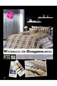 ชุดเครื่องนอน ผ้าห่มนวม ชุดผ้าปูที่นอนโตโต้  TT278(น้ำตาล)