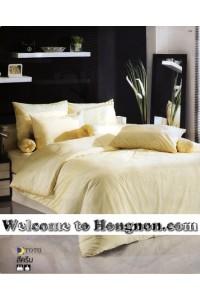 ชุดเครื่องนอน ผ้าห่มนวม ชุดผ้าปูที่นอนโตโต้ TOTO สีครีม