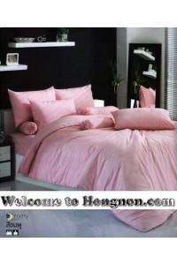 ชุดเครื่องนอน ผ้าห่มนวม ชุดผ้าปูที่นอนโตโต้ TOTO สีชมพู