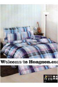 ชุดเครื่องนอน ผ้าห่มนวม ชุดผ้าปูที่นอนโตโต้  TT273ฟ้า