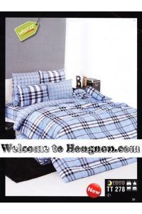 ชุดเครื่องนอน ผ้าห่มนวม ชุดผ้าปูที่นอนโตโต้  TT278ฟ้า