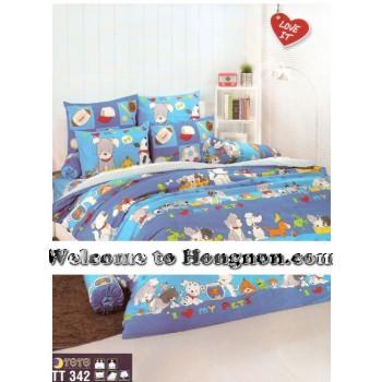 ชุดเครื่องนอน ผ้าห่มนวม ชุดผ้าปูที่นอนโตโต้  TT342
