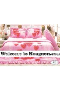 ชุดเครื่องนอน ผ้าห่มนวม ชุดผ้าปูที่นอนทิวลิป 489