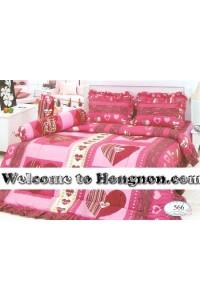 ชุดเครื่องนอน ผ้าห่มนวม ชุดผ้าปูที่นอนทิวลิป 566