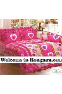 ชุดเครื่องนอน ผ้าห่มนวม ชุดผ้าปูที่นอนทิวลิป 619